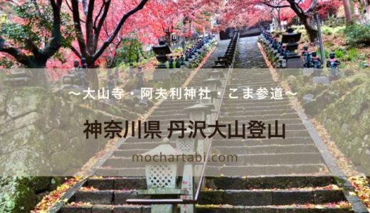【神奈川県】丹沢大山登山~紅葉の美しい大山寺や阿夫利神社とこま参道